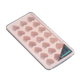 Pink heart shaped silicone ice cube tray x4665