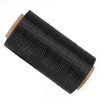 Para couro preto costura diy artesanal fio de linha encerada 150D 1mm 200m comprimento WS4502