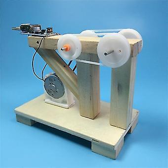 For DIY Hand Crank Generator Scientific Education Material Assemble Model Kids Student Classroom Manual WS33704