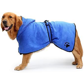 Xlarge. Rückenlänge 29 blau Hund Bademantel weichen super absorbierenden luxuriös Mikrofaser Trocknen Handtuch dt6657