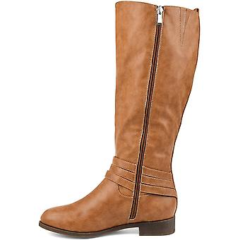 Brinley Co Women's Shoes IRVING-GRY-090 Leather Closed Toe Knee High Fashion Boots
