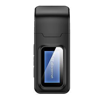 Receptor emițător Bluetooth 2 în 1 mașină cu afișaj, adaptor USB Bluetooth 5.0