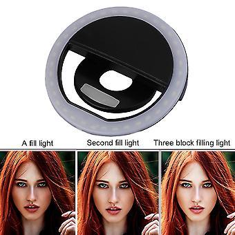Sg-11 Mini Rechargeable Phone Led Selfie Lamp Ring Light Night Using Light