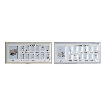 إطار الصورة DKD ديكور المنزل سنة واحدة جميلة الخشب متعددة (2 أجهزة الكمبيوتر الشخصية) (63 × 2 × 29 سم)