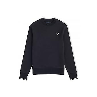 Fred Perry CCrew Neck Long-Sleeved Sweatshirt (Black)