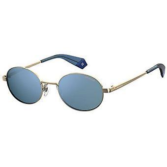 Polaroid Small Rimless Sunglasses - Blue/Gold