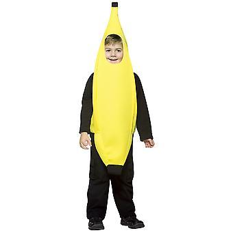 Banana Tropical Yellow Fruit Healthy Funny Book Week Kid Child Boys Disfraz 4-6X