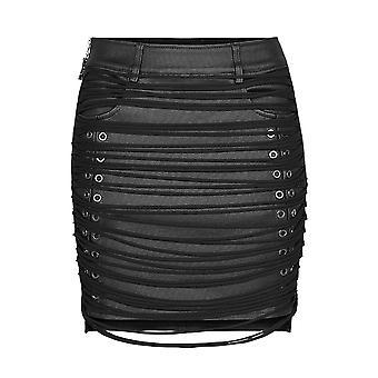 Punk Rave Lana Leather Look Mini Skirt