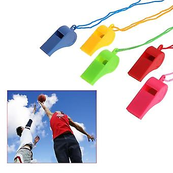 24 Pcs color plastic cheer sports basketball soccer ball fans referee whistle wholesale dropshipping