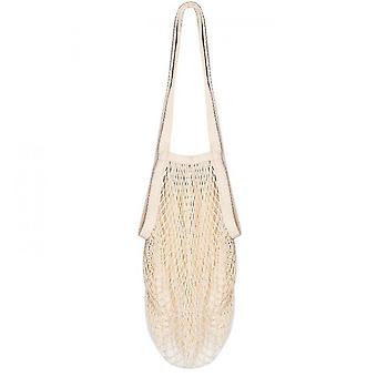 Large Mesh Shopping Bag With Long Handle And Portable