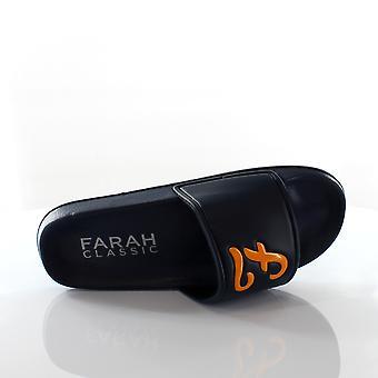 Farah Classic Wave Slip Sur Navy Synthetic Mens Sliders FAR0113 108