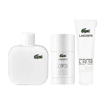 Lacoste eau de lacoste l.12.12 blanc set regalo 100ml edt + gel doccia 50ml + deodorante stick 70g