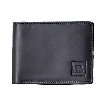 RVCA Cedar Bifold Leather Wallet in Black