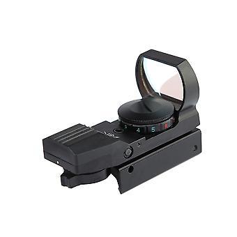 البصرية الأحمر الأخضر نقطة ثلاثية الأبعاد نطاق البصر المنعكس مع 4 نوع الشبكية لقضبان 20mm، (أسود)