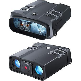 Бинокль ночного видения, 1080p Full HD, диапазон обзора 1640 футов, превосходный инфракрасный 5 Вт, высокочувствительный CMOS-сенсор Ночные очки для охоты, кемпинга и наблюдения, (черный)