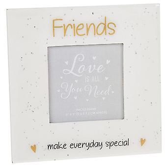 Glitter Words Frame 3x3 Friends