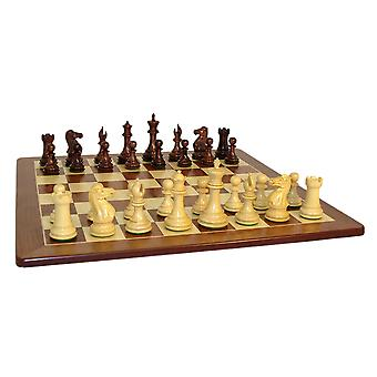 Rosewood Exclusive Chess Set With Padauk Board