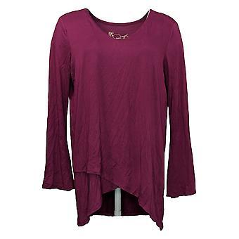 DG2 von Diane Gilman Damen Top Reg Long Sleeve Pink 648357