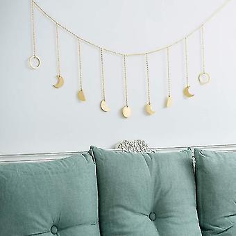 Metal/wooden Photo Wall Hanging Decoration - Round Piece Sun Moon Shape Photo
