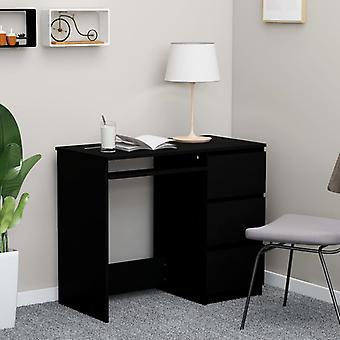 Työpöytä musta 90x45x76 cm lastulevy