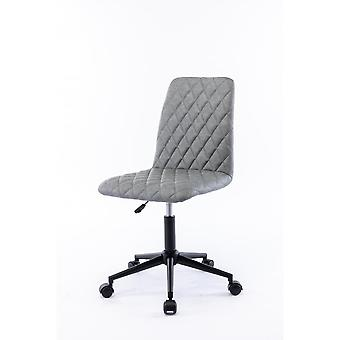Grey Velvet Office Chair Ergonomic Without Arms For Home Office