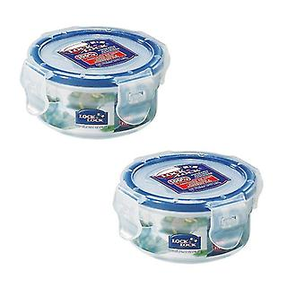 Household storage containers lock lock 100ml extra small round storage containers  set of 2