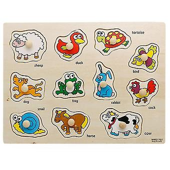 Jigsaw puzzles i animal letter jigsaw early kids educational toys