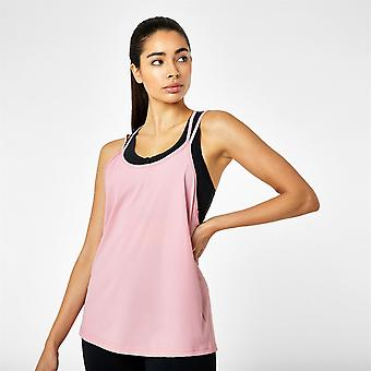 USA Pro Womens Strappy Sports Vest Top Training Fitness Gym Performance Scoop
