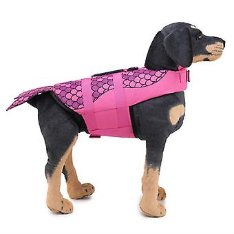 Mimigo Dog Life Jacket Pet Floatation Vest Dog Lifesaver Dog Life Preserver For Water Safety At The Pool, Beach, Boating Pink