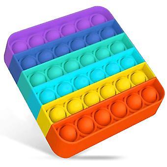 Push Bubbles Sensorisk legetøj, en støjende side og en stille side for Pop, Autisme særlige behov mod stress reliever silikone Squeeze Legetøj