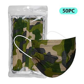 Engångs ansiktsmask Anti Dust Personlig Mask 3ply Ear Loop 50pc