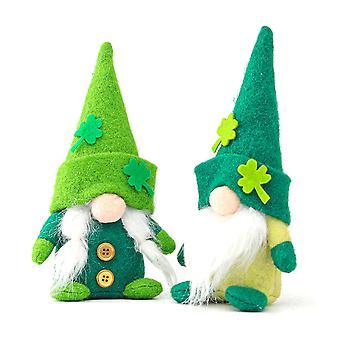 Green Clover Faceless Dolls Rudolph Action Figure Gnome Doll Mini Plush Elf Female