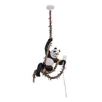 Lustre en résine de chanvre, lampe panda industrielle, lampe de décoration intérieure, très approprié pour la cuisine ou la salle à manger