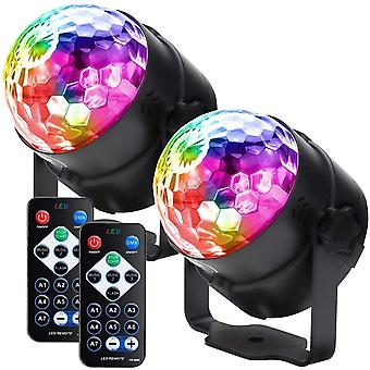 2 Pack 7 Modes Portable Disco Lights
