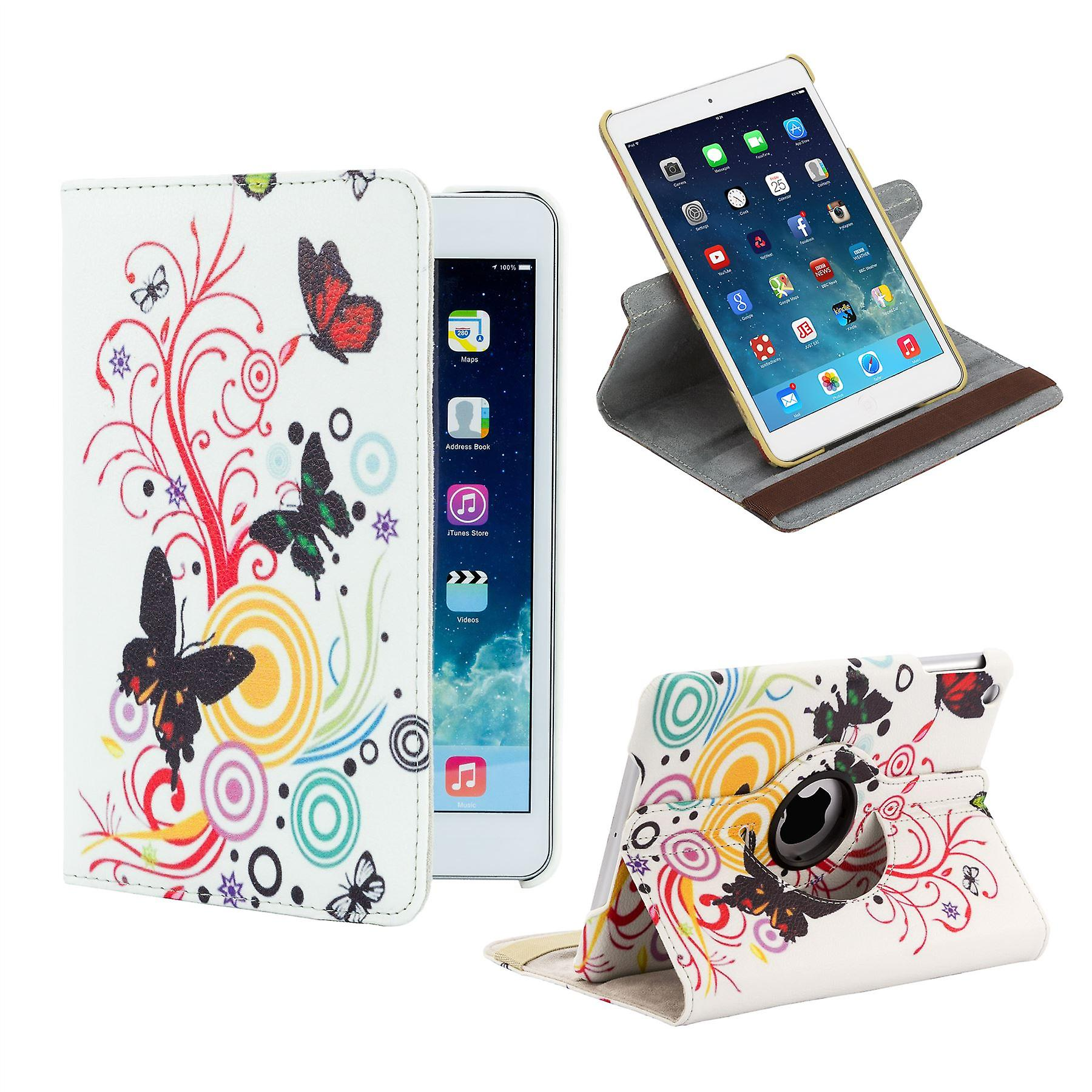 360 degree Design Book case for Apple iPad Mini 4th Gen - Colour Butterfly
