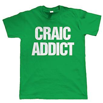 Craic Addict, Herren St. Patricks Day Irish T Shirt