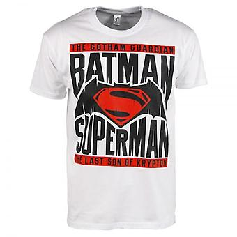 Batman, Superman V Batman Mens T-Shirt blanc