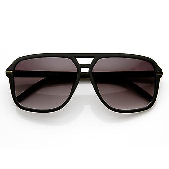 Quadratische Matte Pilotenbrille Flat Top weiche Oberfläche gummiert