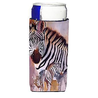 Carolines Treasures  JMK1197MUK Zebras Ultra Beverage Insulators for slim cans