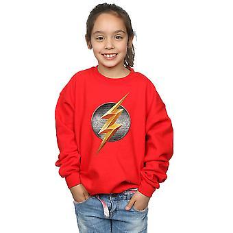DC Comics Girls Justice League Movie Flash Emblem Sweatshirt