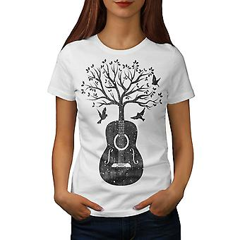 Gitara Muzyka drzewo kobiet WhiteT-shirt | Wellcoda