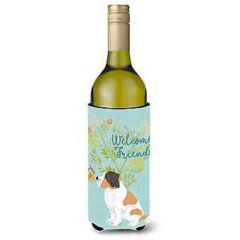 مرحبا أصدقاء سانت برنارد زجاجة النبيذ Beverge عازل العانغر