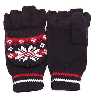 Dámy a ženy vzorované zimní rukavice bez prstů