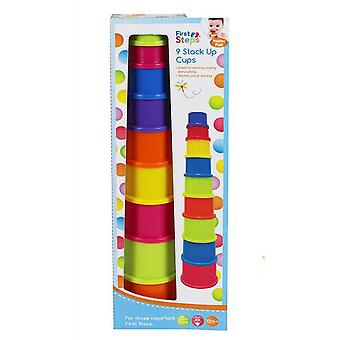 First Steps 9 Colourful Stack Up Cups