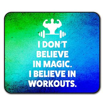Believe Gym Workout  Non-Slip Mouse Mat Pad 24cm x 20cm | Wellcoda