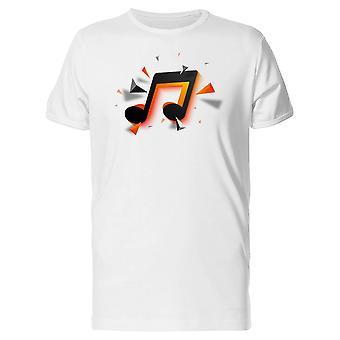 Orange & noir musique Note Tee homme-Image de Shutterstock