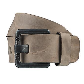 BERND GÖTZ belts men's belts leather belt Stone Brown 3729