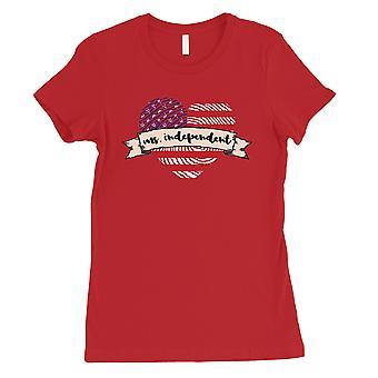 مرض التصلب العصبي المتعدد المستقلة القميص الأحمر النسائي القميص 4 لطيف الزي تموز/يوليه