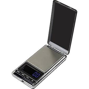 Basetech SJS-60007 Pocket scales Weight range 500 g Readability 0.1 g battery-powered Silver