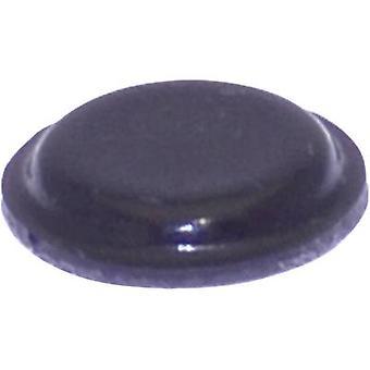 TOOLCRAFT PD2120SW Ayak kendinden yapışkanlı, dairesel Siyah (Ø x H) 10,1 mm x 1,8 mm 1 adet(ler)